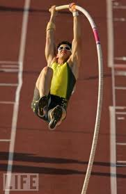 Jake Pauli of UNI Pole Vaulting