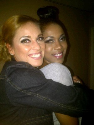Kimberly Edwards & Amanda Forde on set of Shabi's Photo Shoot - Kimberly-Edwards.com
