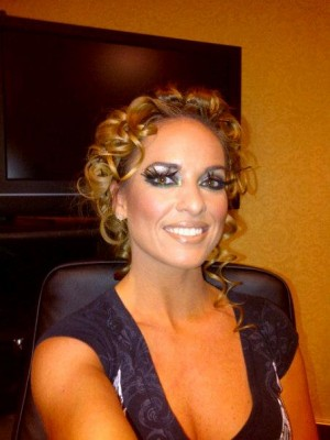 Pinned-Up Curls - Kimberly Edwards preparing for Dhaagay shoot for Brides & You Magazine