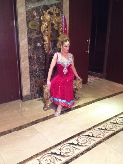 Behind the Scenes - Kimberly Edwards on  set for Dhaagay shoot for Brides & You Magazine