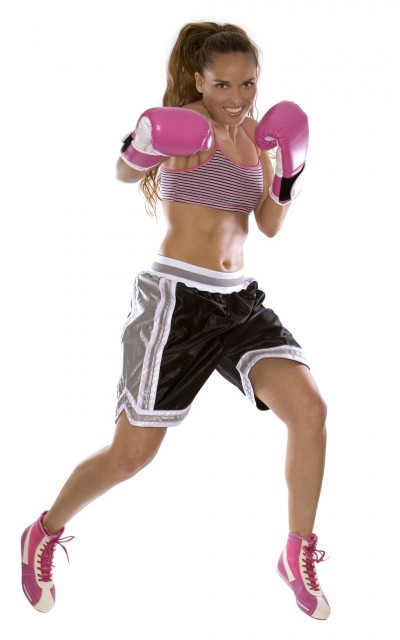 Canadian model, Kimberly Edwards - female boxer
