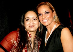 Farhana with Canadian model, Kimberly Edwards