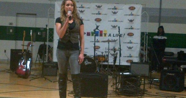 "Canadian Model, Kimberly Edwards @ Holy Cross High School for ""Jump Start A Life"" Nov17, 2011 - Kimberly-Edwards.com"