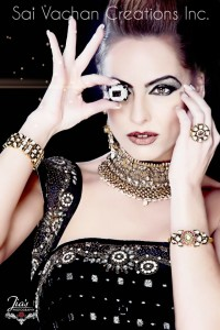 Sai Vachan Creations Jewelry on Canadian Model, Kimberly Edwards - Kimberly-Edwards.com