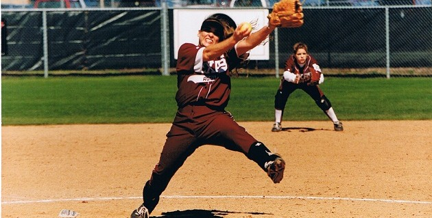 Pitching for Texas A&M - 1997 - Kimberly Edwards (Turner) - Kimberly-Edwards.com