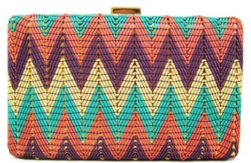 Colorful Pattern Evening Bag - wholesalehandbags1.com