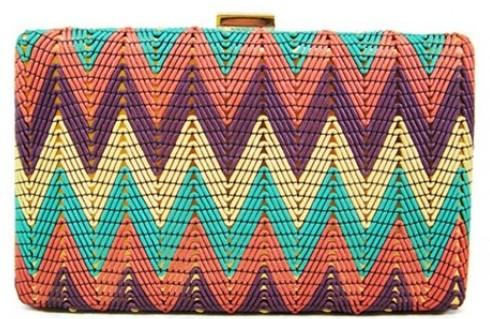 Colorful Pattern Evening Bag - wholesalehandbags1.com