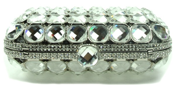 High Quality Stone Embellished Clutch - mezonhandbags.com
