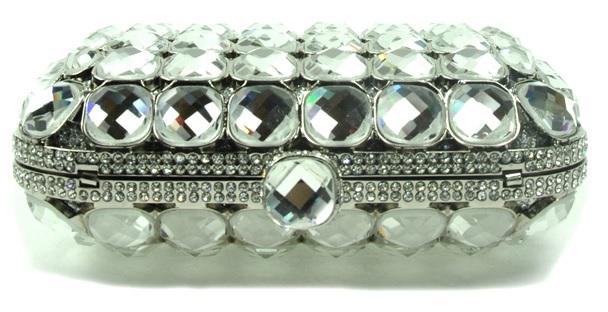 High Quality Stone Embellished Clutch - mezonhandbags.com