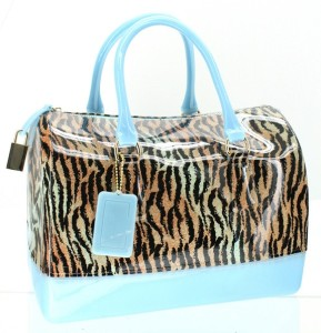 Zebra Print Jelly Satchel - mezonhandbags.com